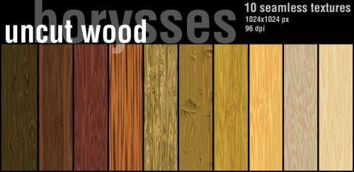 Seamless Textures of Uncut Wood