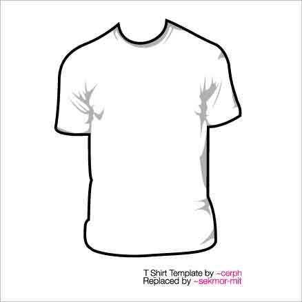 10 t shirt template for Blank t shirt design template