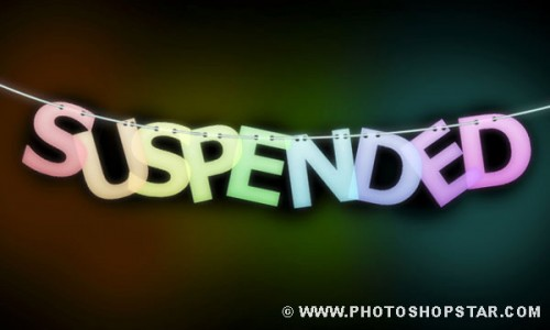 13_How to Create Suspended Text Effect