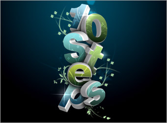 16_Create a 3D Flowery Text Effect