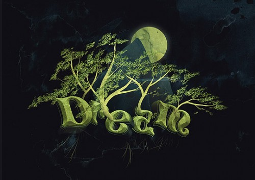 27_Create a Dream Design with 3D Typography