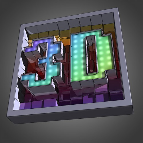 30_Create Awesome Text Made of 3D Blocks