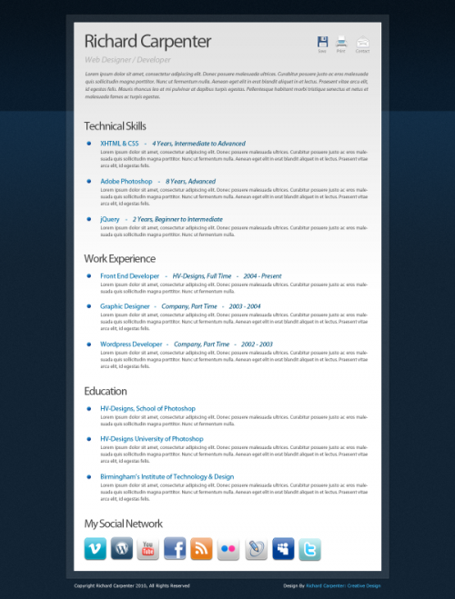 3_Free Creative Digital CV