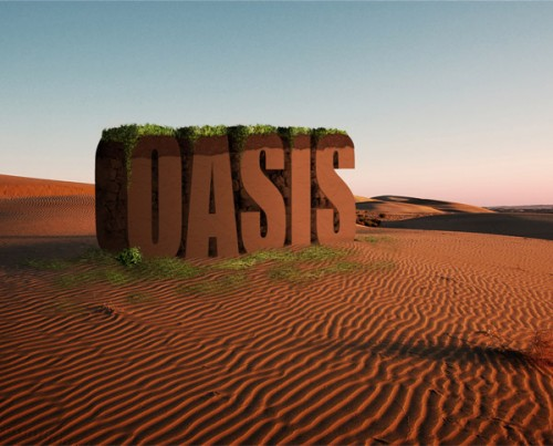 5_Create a 3D Text Scene Using Photoshop