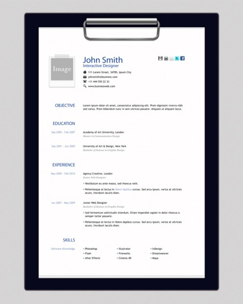 9_Free HTML Resume Template