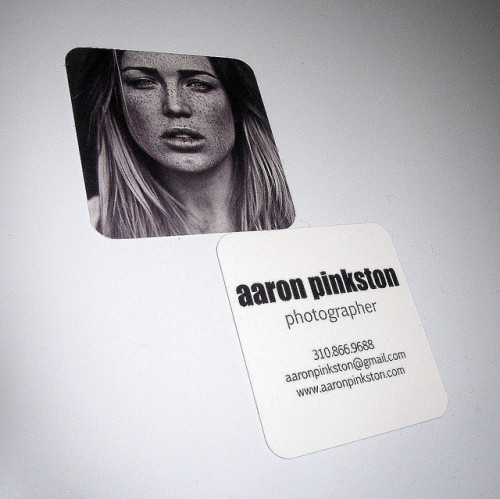 Aaron Pinkston Business Card