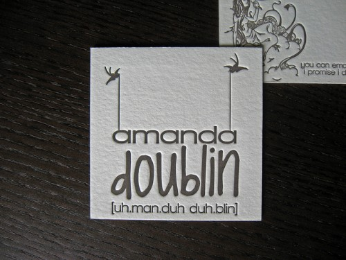 Amanda Doublin Business Card