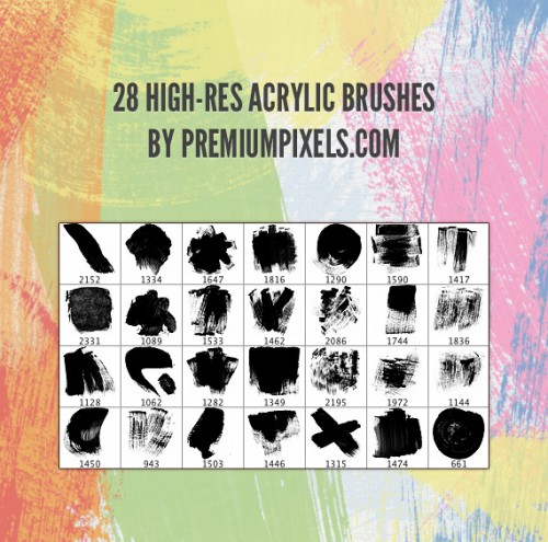 28 High-Res Acrylic Brushes