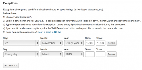 Business Hours Plugin