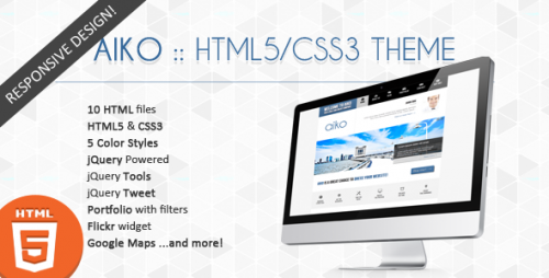 Aiko Creative HTML5 and CSS3 Template