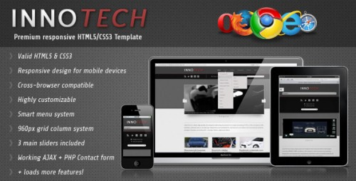 InnoTech HTML5 and CSS3 Template