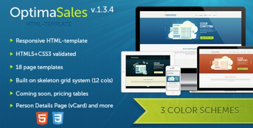 OptimaSales HTML5 and CSS3 Template