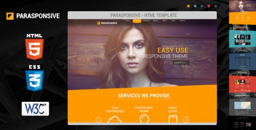 Parasponsive HTML5 and CSS3 Web Template