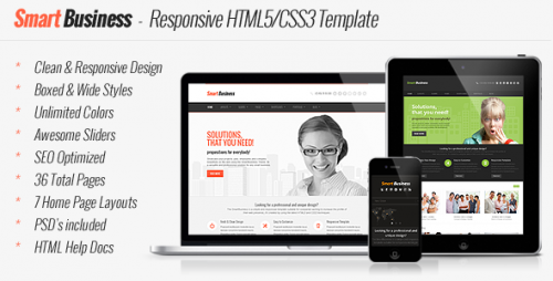 Smart Business HTML5 and CSS3 Template