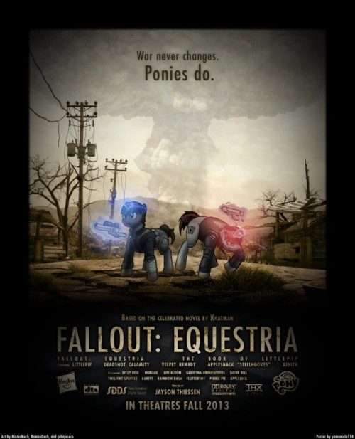 Fallout Equestria Movie Poster Concept