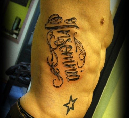 Lettering on Ribs 2013