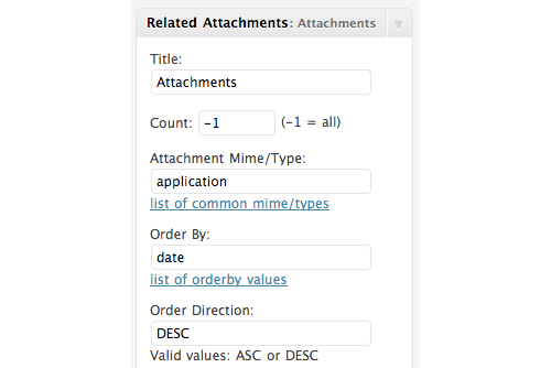 List Related Attachments