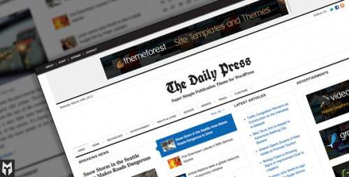 The Daily Press: Super WP Publication Theme