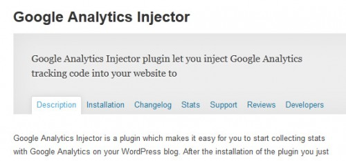 Google Analytics Injector