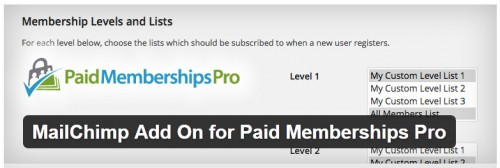 MailChimp Add On for Paid Memberships Pro