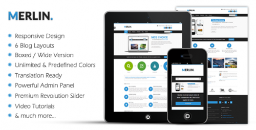 Merlin - Clean & Modern Multipurpose Theme