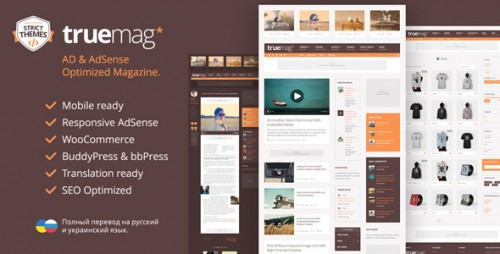 Truemag - AD and AdSense Optimized Magazine Theme