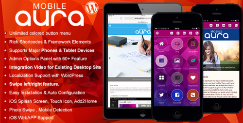 Aura - WordPress Premium Mobile Theme