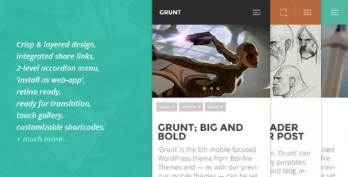 GRUNT - A Big and Bold Mobile WordPress Theme