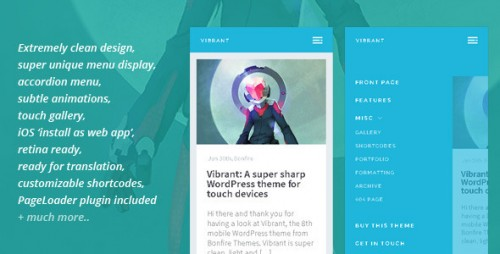 Vibrant - A Super Sharp WordPress Mobile Theme