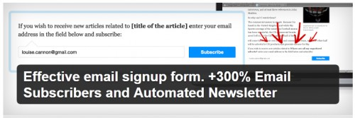 Effective Email Signup Form