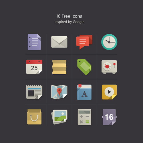 16 Awesome Free Flat Design Icons