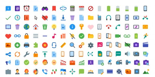 300+ Cool Free Flat Color Icons