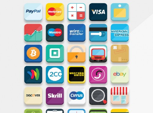 33 Free Flat Payment Icons for eCommerce