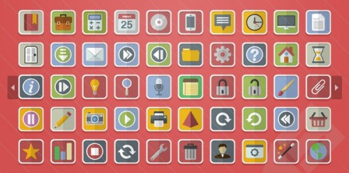 50 Free Download Flat Vector Icons