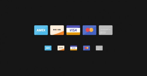 Free Flat Color Credit Cards Icons