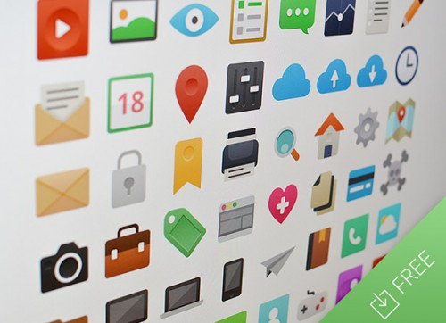 It's Flat - 48 Free PSD Icons