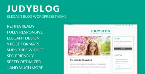 JudyBlog - Elegant Blog WordPress Theme