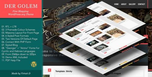 Der Golem - Classic Blogging WP Theme