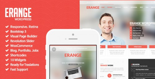 Erange - Responsive Multipurpose WordPress Theme