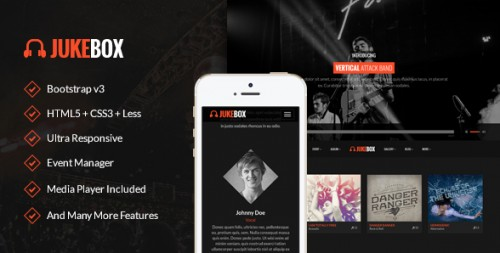 Jukebox - Music and Band WordPress Theme