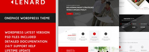 Lenard - Onepage Business Responsive WP Theme