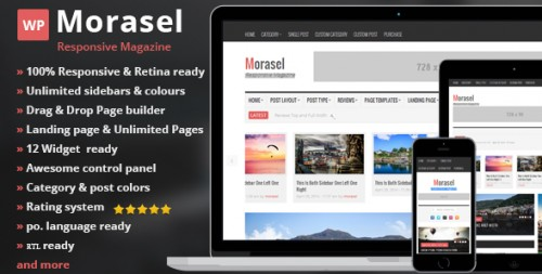Morasel - Responsive News and Magazine WordPress Theme