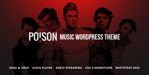 Poison - Music Bands Artist Club WordPress Theme