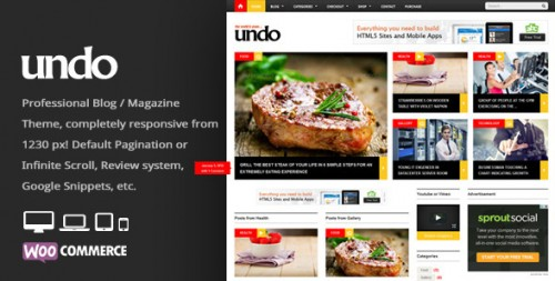 Undo - WordPress News, Magazine Theme