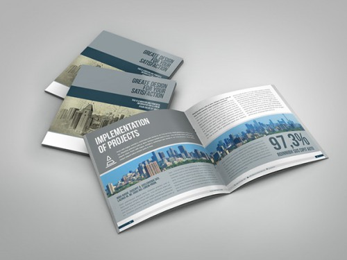 Business Brochure Square InDesign Template