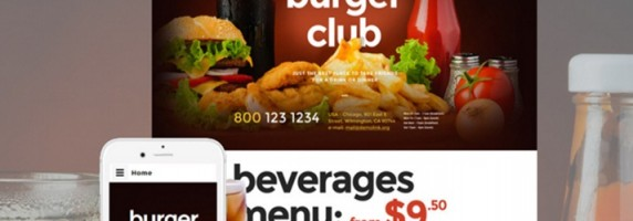 Fast Food Restaurant Responsive Website Bootstrap Theme