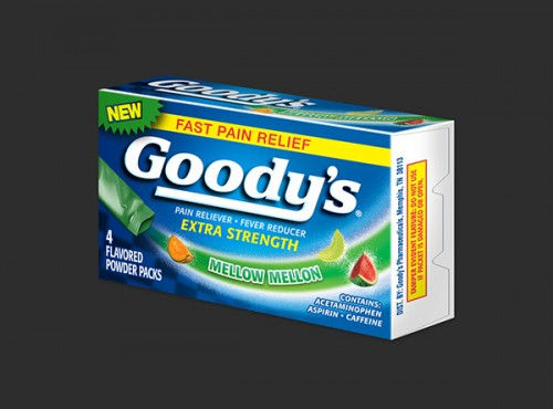 Amazing Goody's Pain Relief Packing Ideas