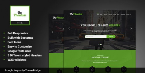ThePhantom - Multipurpose Landing Page Template