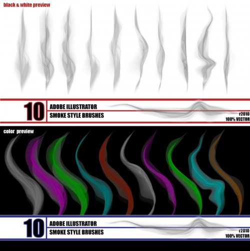 10 Free Smoke Illustrator Brushes