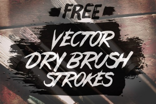 Free Vector Dry Brush Stroke Illustrator Brushes